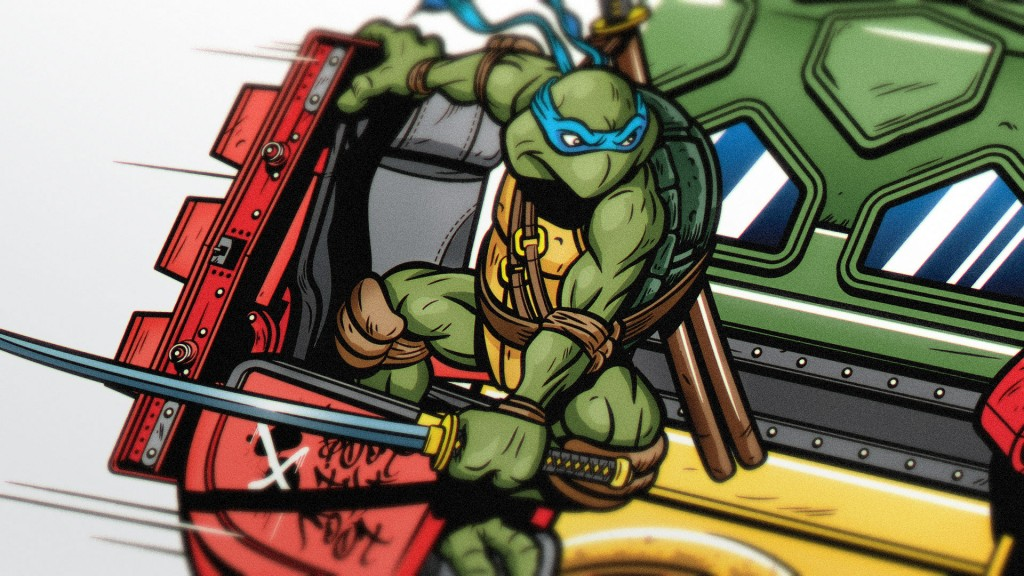 TMNT print by Justin Gammon