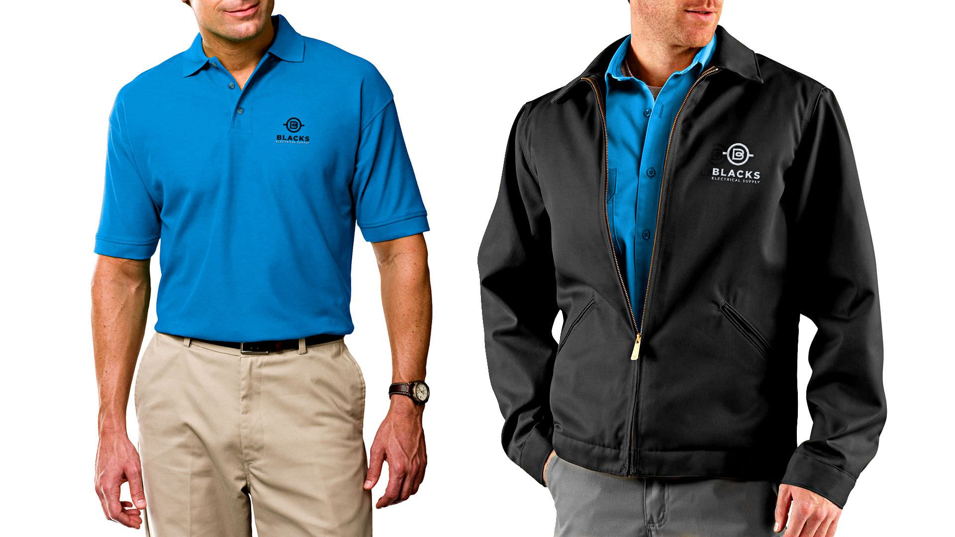 Branding Greenville-based Blacks Electrical Supply - - Branding Greenville Shirt and Jacket