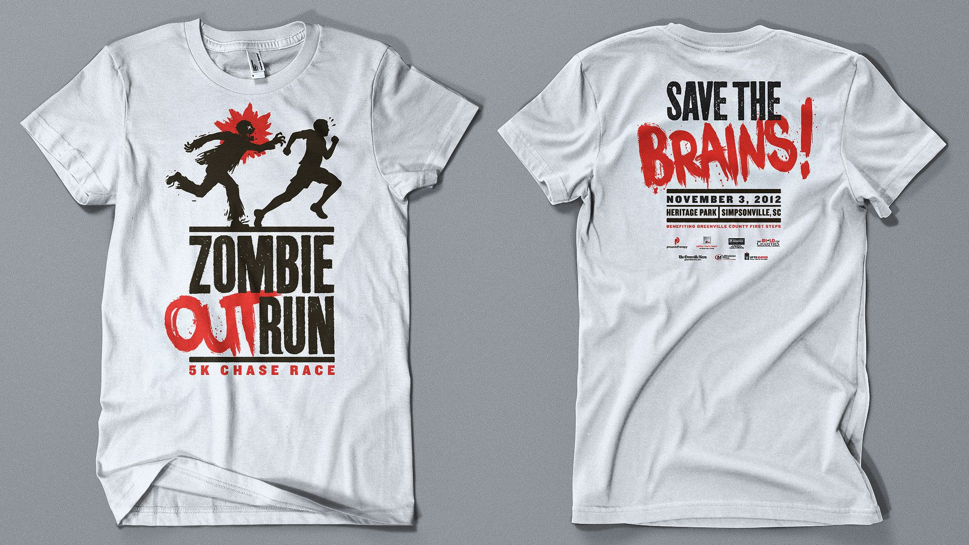 Zombie Outrun 5k Chase Race Justin Gammon Design
