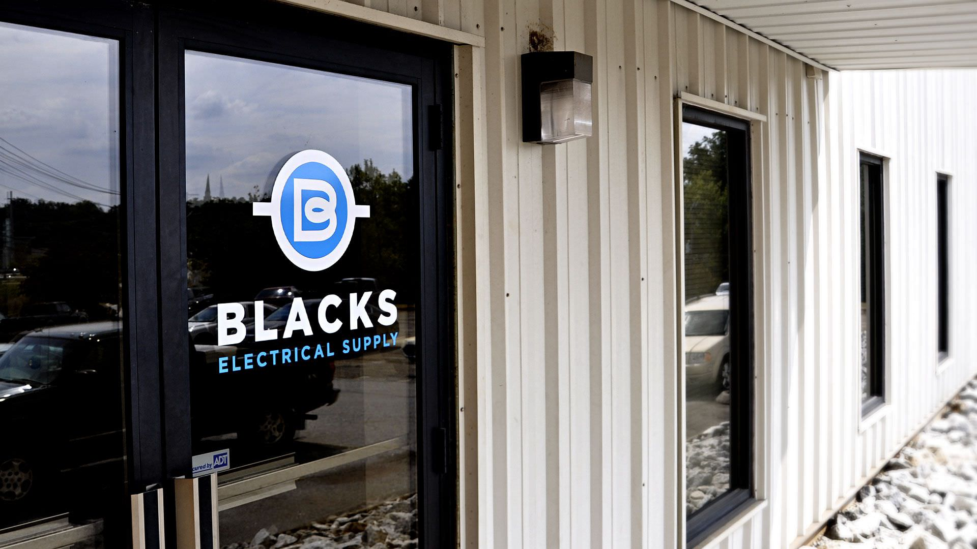 Branding Greenville based Blacks Electrical Supply - - Branding Greenville Headquarters Entrance