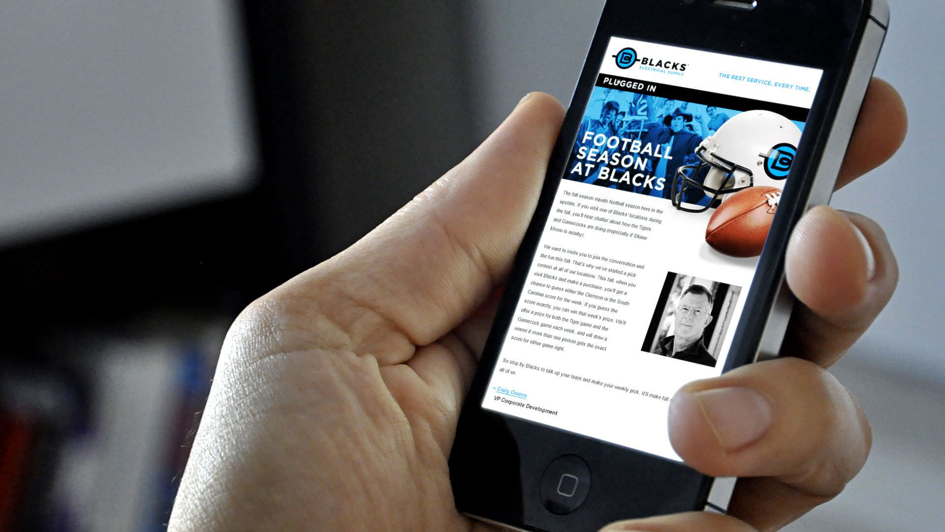 Blacks Electrical Supply - Email Newsletter - Mobile View