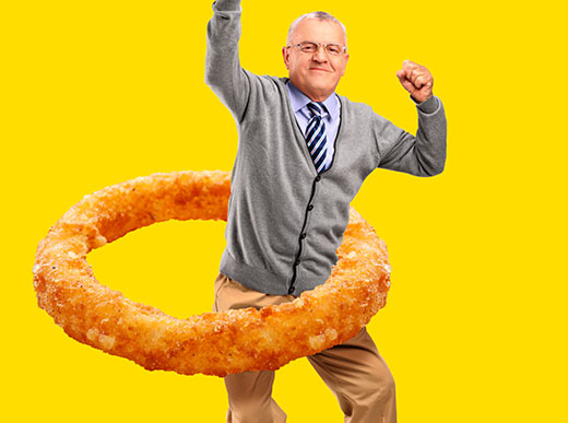 Denny's Tumblr - Hula Hoop Onion RIng