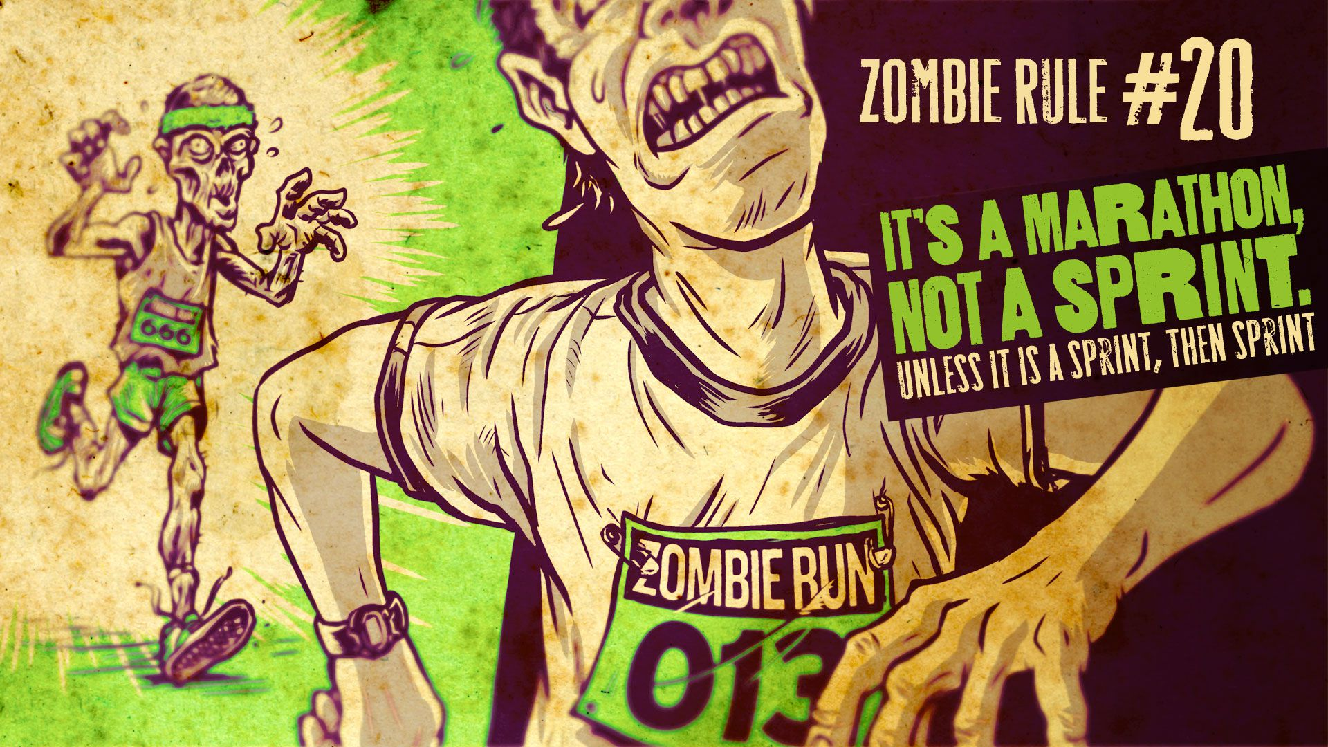 Zombie Rule 20: It's a Marathon, Not a Sprint