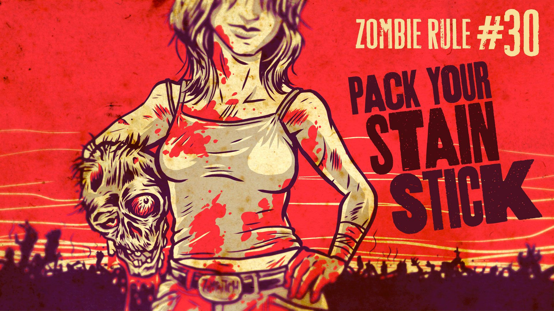 Zombie Rule 30: Pack Your Stain Stick