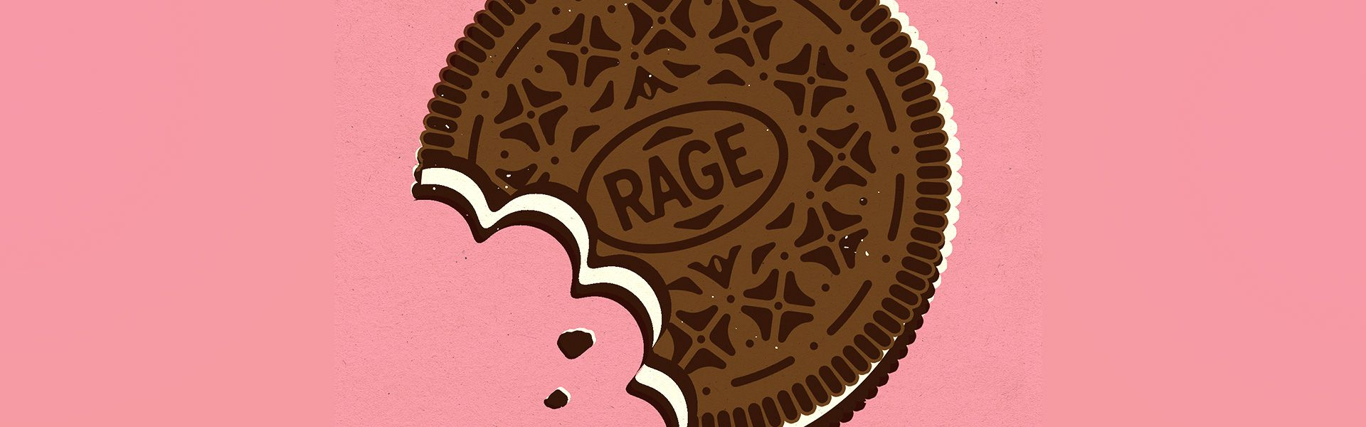 Rage Against the Haze - Oreo Cookie Illustration