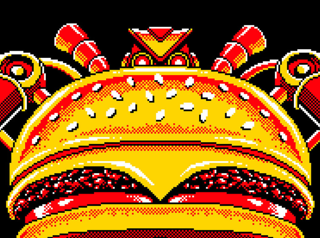 Burger Bot Pixel Art