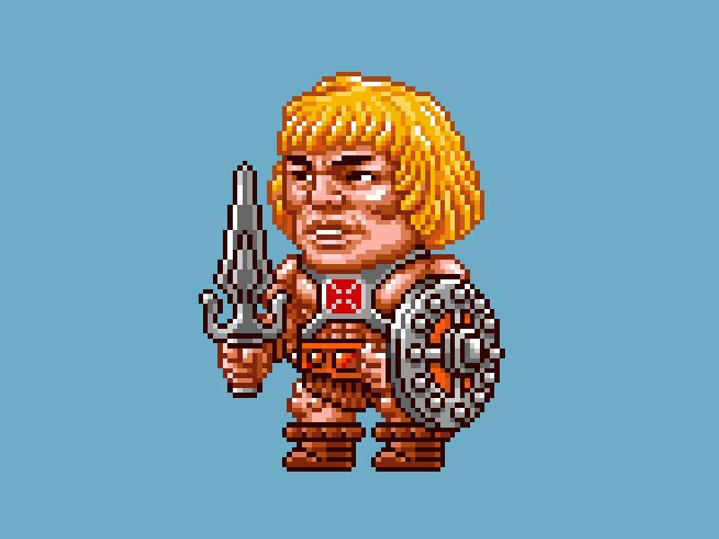 MOTU Pixel Art - He-Man