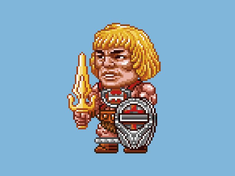MOTU Pixel Art - Thunderpunch He-Man