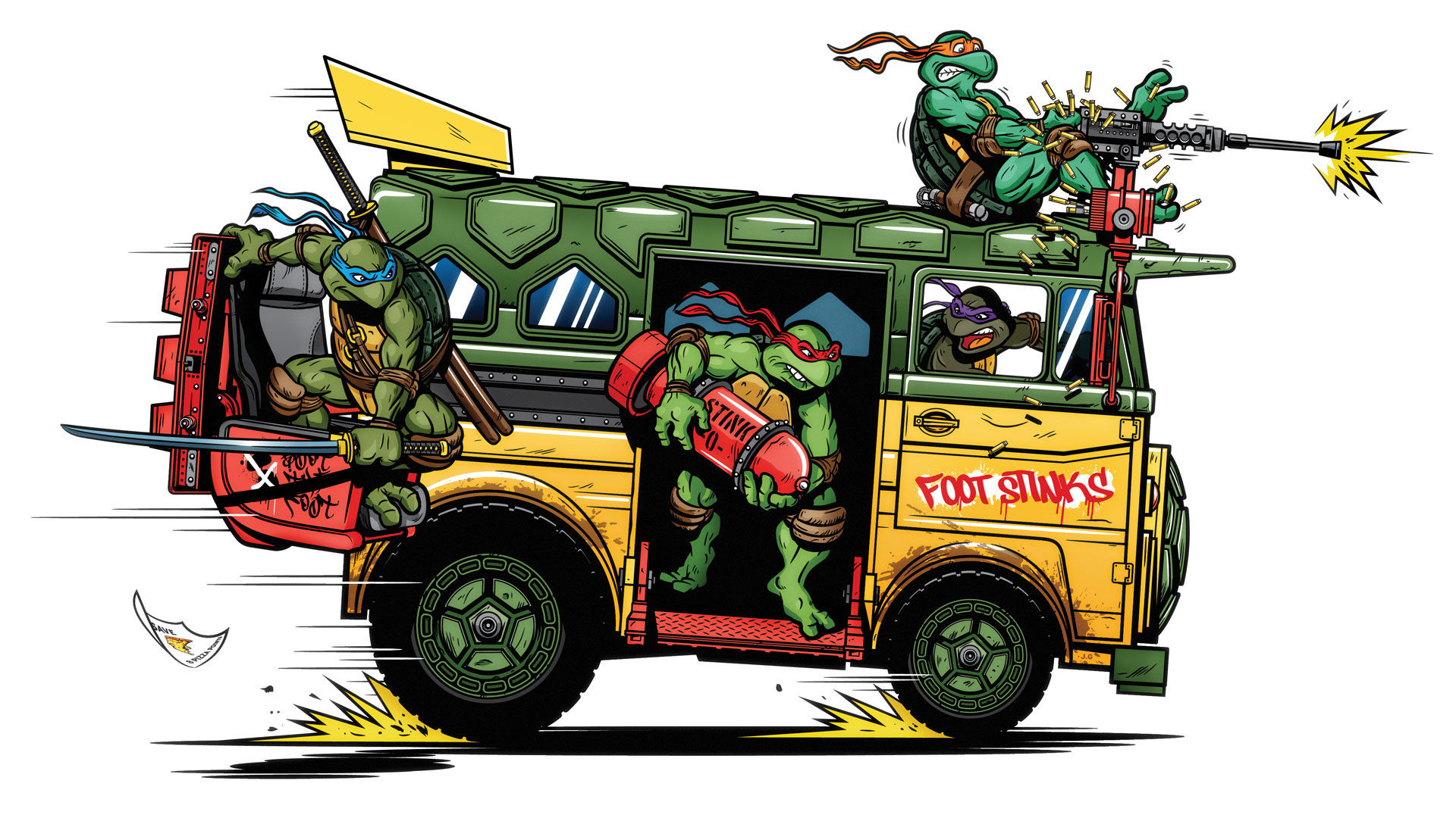 TMNT - The Party Wagon by Justin Gammon
