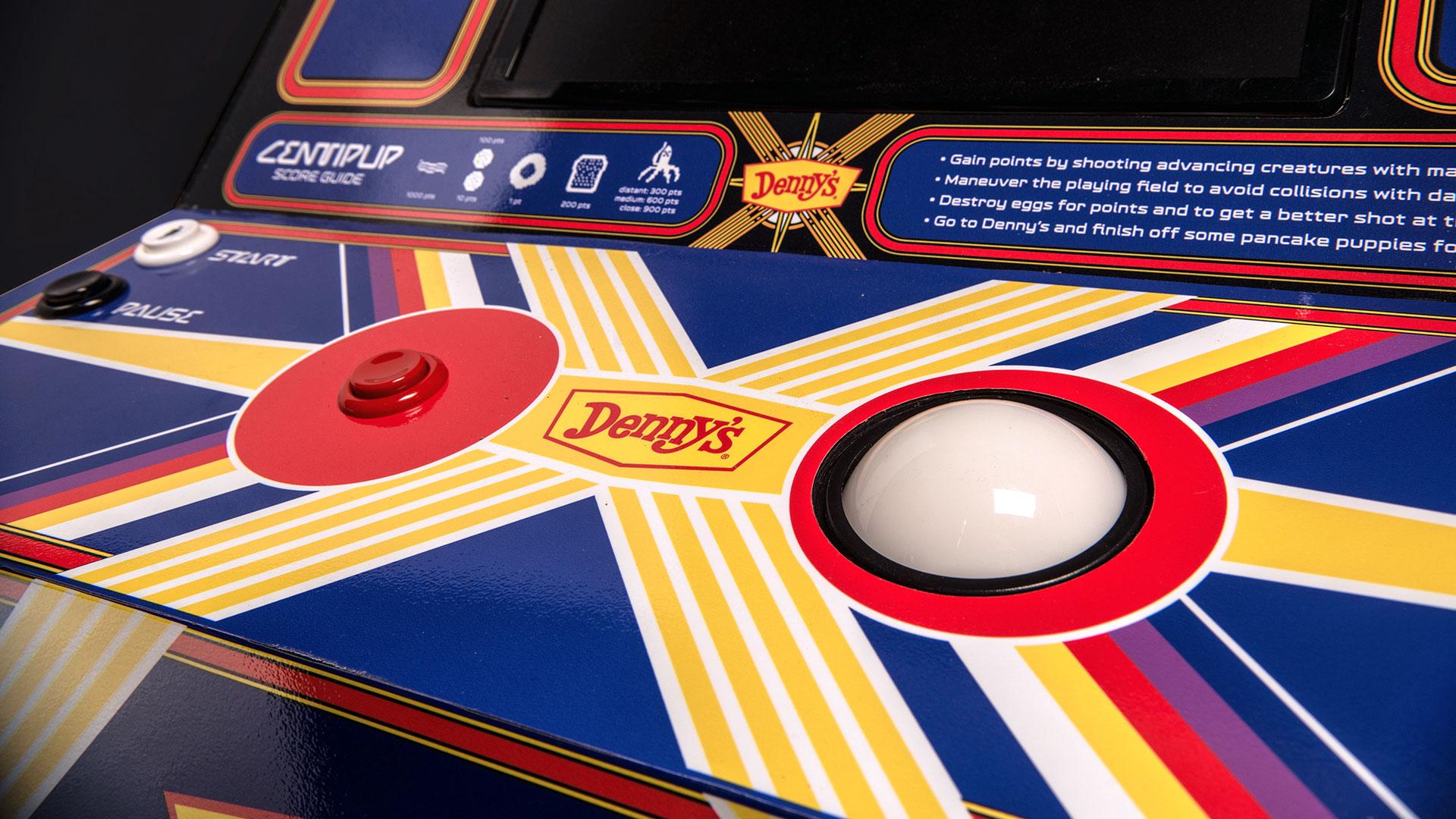 Denny's Atari Battle Royale Centipup Arcade Controls