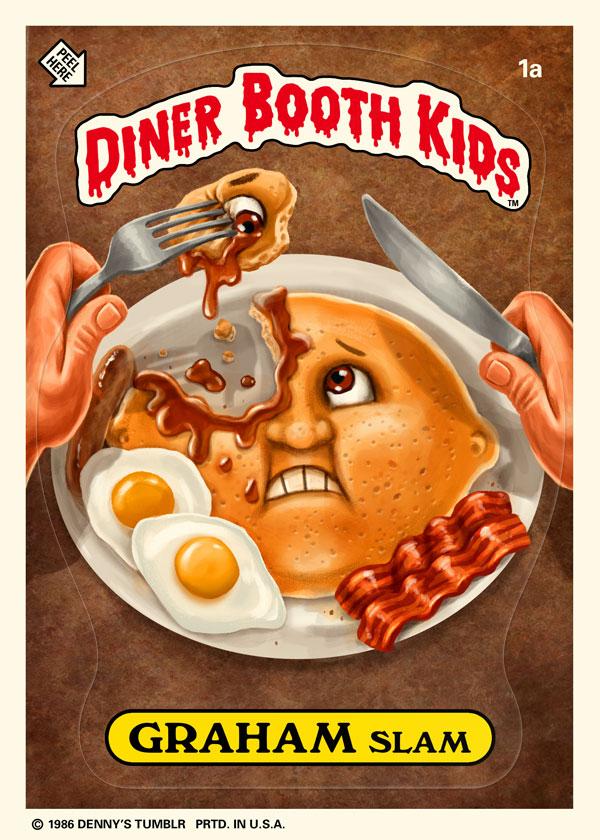 Diner Booth Kids - Graham Slam - Garbage Pail Kids Parody