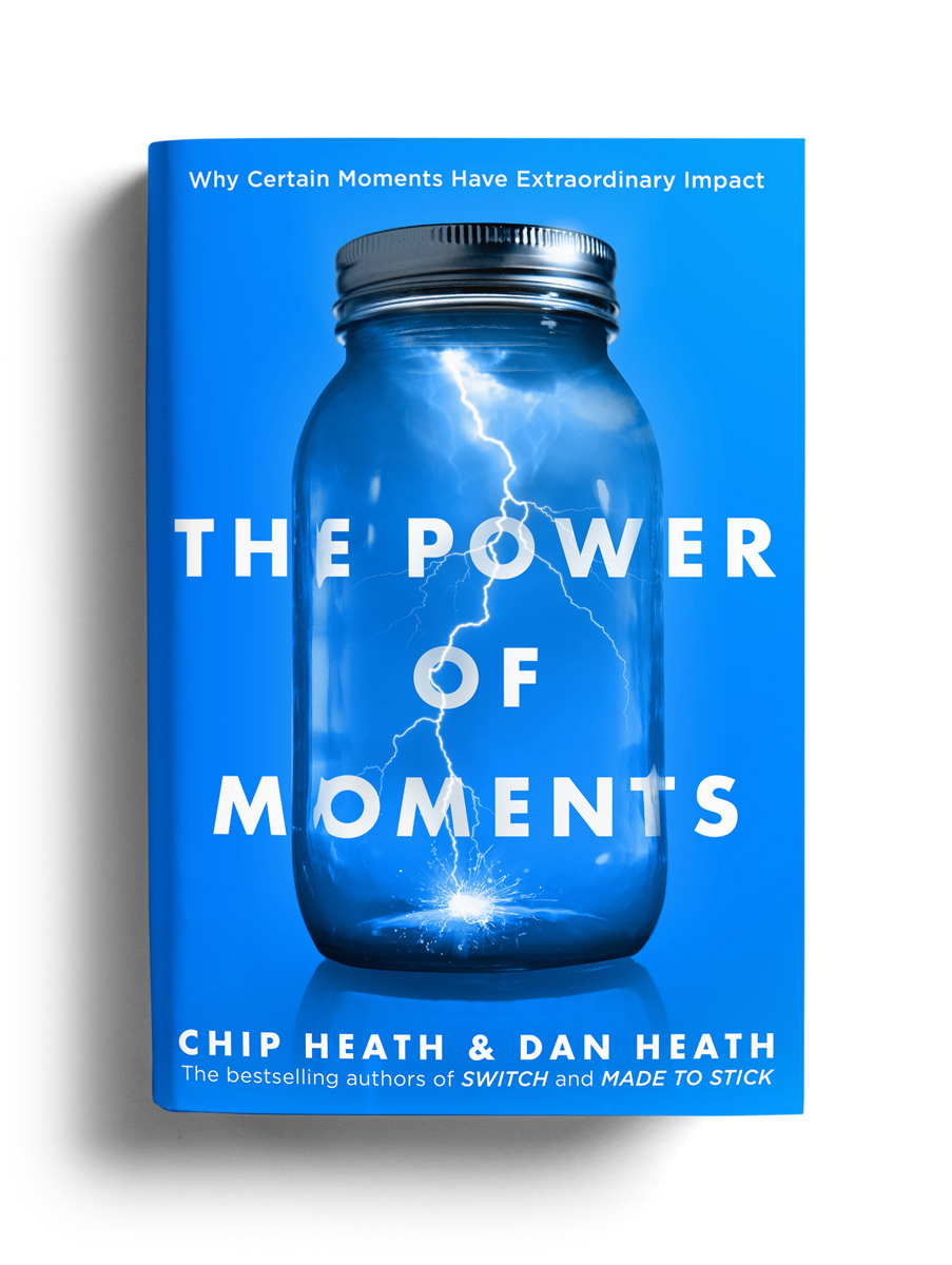 The Power of Moments by Chip Heath & Dan Heath - Book Cover Design by Justin Gammon