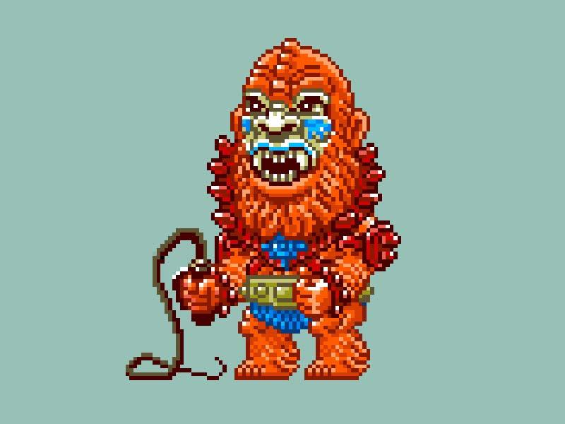 MOTU Pixel Art - Beast Man