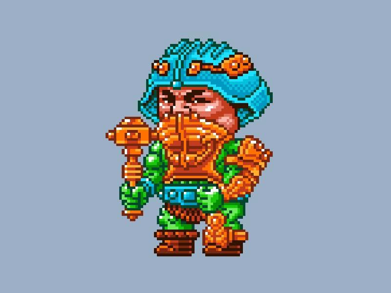 MOTU Pixel Art - Man-At-Arms