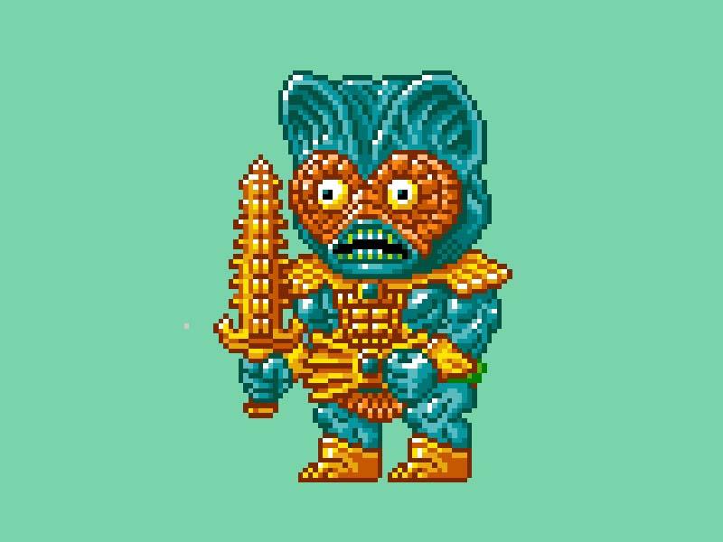 MOTU Pixel Art - Mer Man