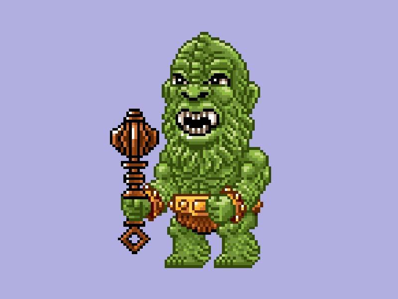 MOTU Pixel Art - Moss Man