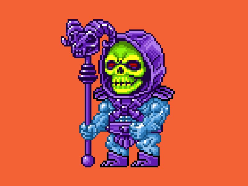 MOTU Pixel Art - Skeletor