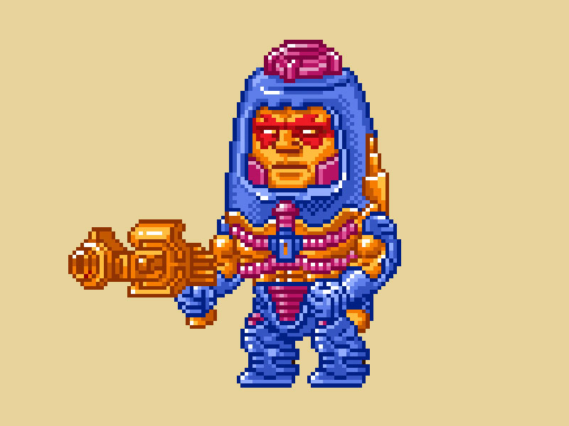 MOTU Pixel Art - Man-E-Faces