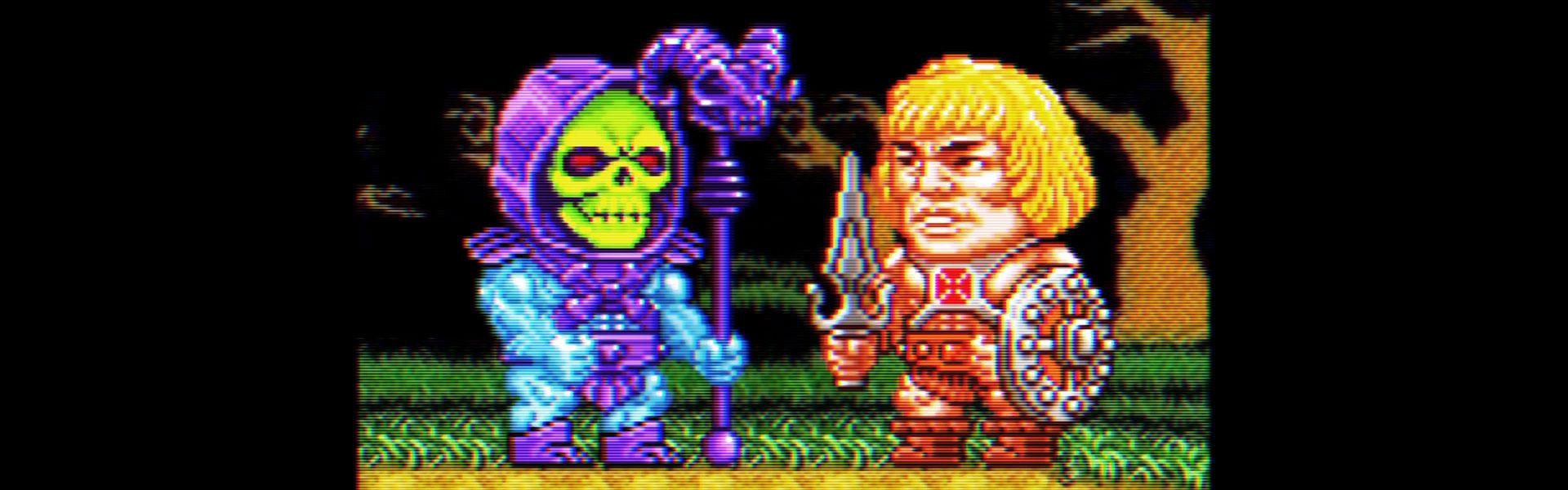 motu pixel art- he-man and skeletor pixels