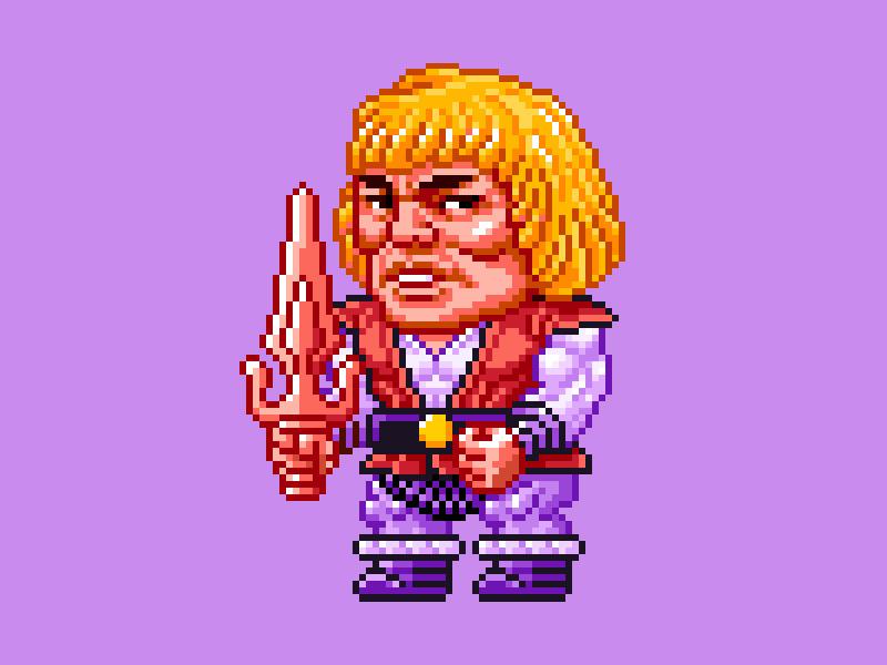 MOTU Pixel Art - Prince Adam